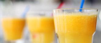 апельсиновый коктейль рецепт