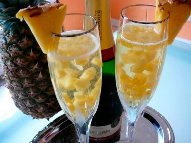 ананасы в шампанском рецепт