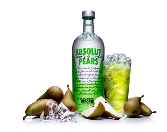 водка с яблочным соком и грушей
